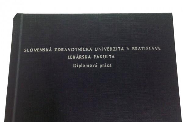 viazanie prac diplomoviek cierny obal strieborne pismo
